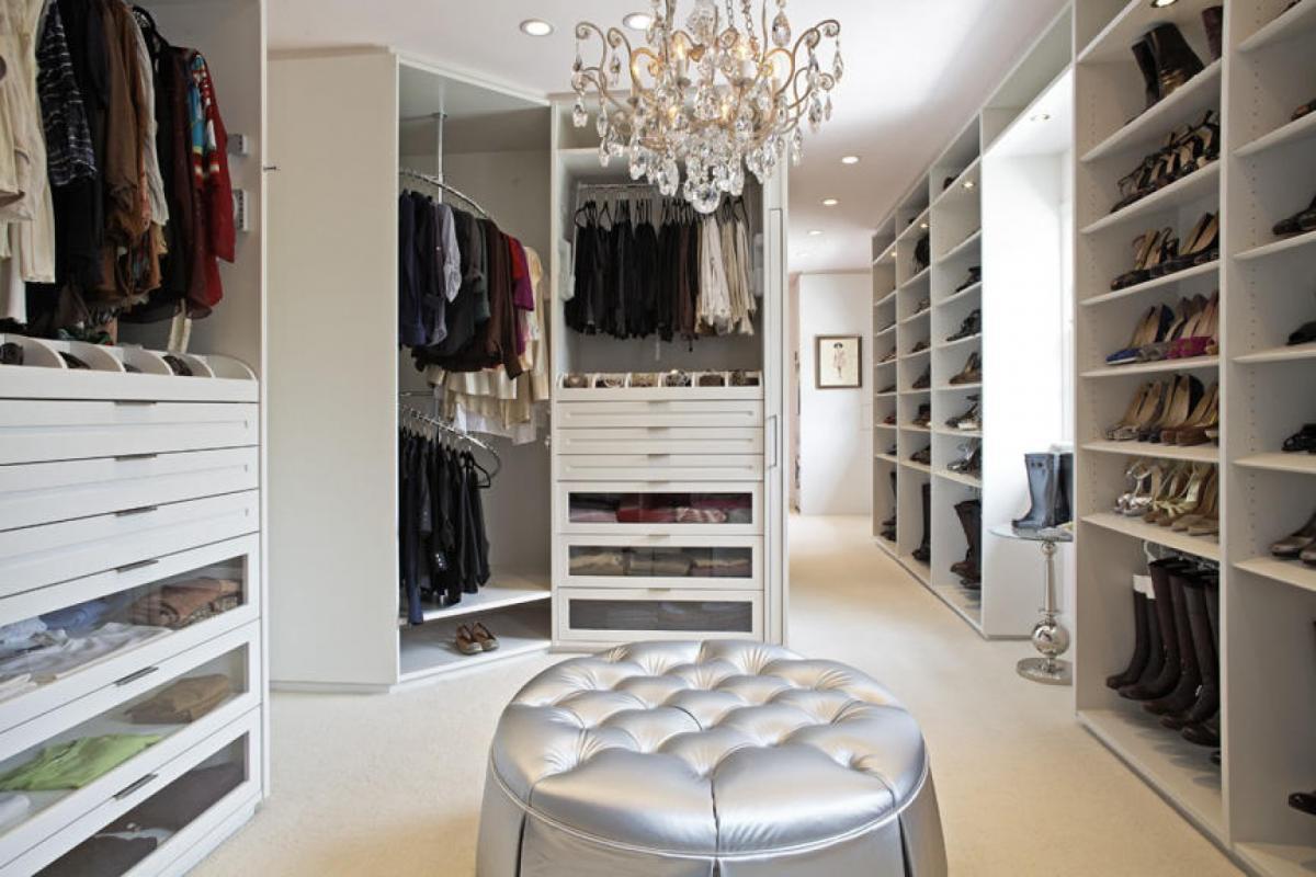 фото гардеробных комнат с одеждой