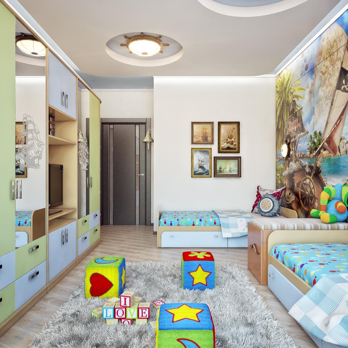 Комната для 2 детей фото