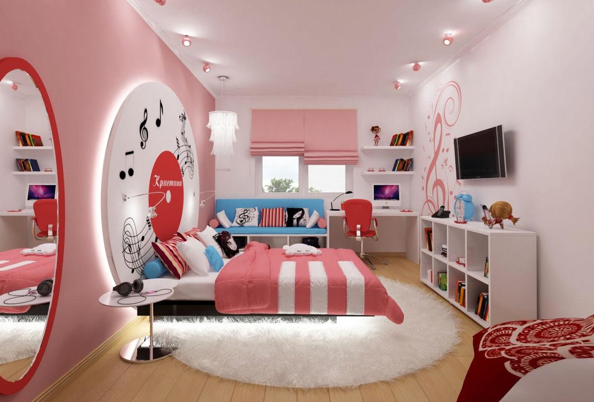 Интерьер комнаты для девушки-подростка фото